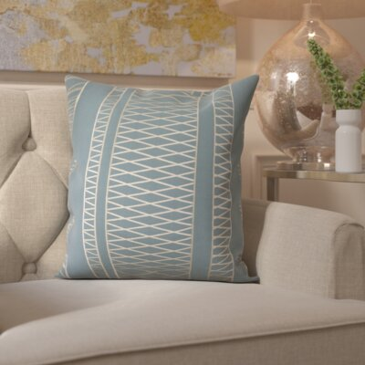 Davis Throw Pillow Cover Size: 20 H x 20 W x 1 D, Color: BlueNeutral