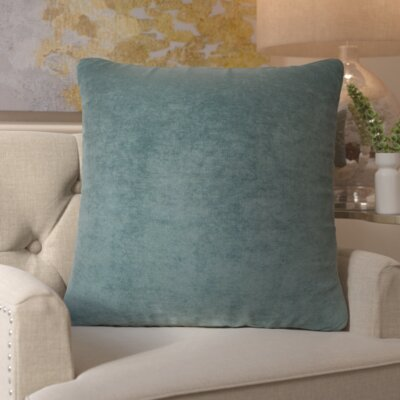 Edwards Throw Pillow Color: Azure, Size: Extra Large
