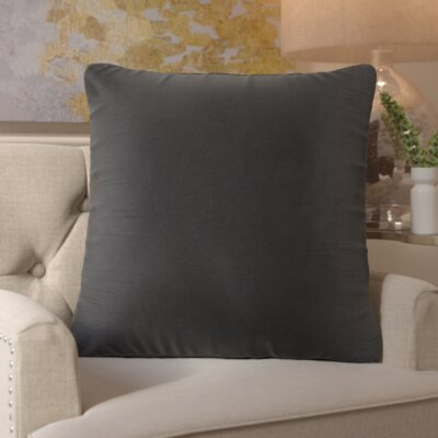 Simone Pillow Cover Size: 18 H x 18 W x 1 D, Color: Black