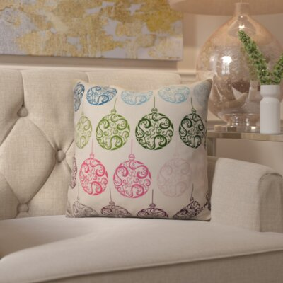 Decorative Holiday Geometric Print Outdoor Throw Pillow Size: 18 H x 18 W, Color: Teal