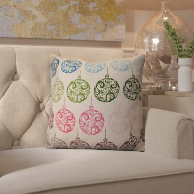 Decorative Holiday Geometric Print Throw Pillow Size: 16 H x 16 W, Color: Teal