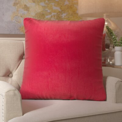 Izabel Pillow Cover Size: 18 H x 18 W x 1 D, Color: Bright Red