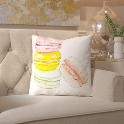 Alison B Macarons 4 Throw Pillow Size: 16 H x 16 W x 2 D