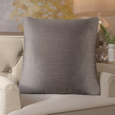 Simone Pillow Cover Size: 18 H x 18 W x 1 D, Color: Gray