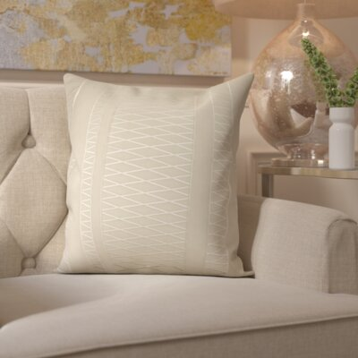 Davis Throw Pillow Cover Size: 22 H x 22 W x 0.25 D, Color: Neutral