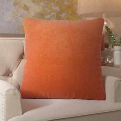 Bramma Throw Pillow Color: Orange, Size: Extra Large