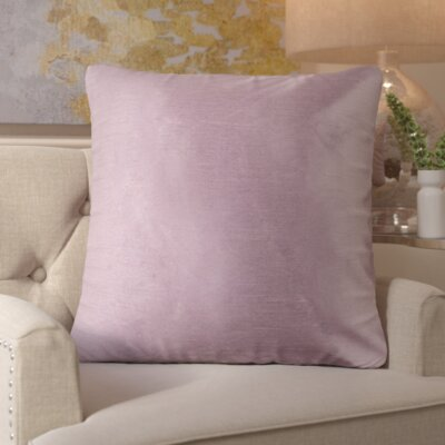 Simone Pillow Cover Size: 18 H x 18 W x 1 D, Color: Mauve