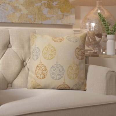 Decorative Holiday Geometric Print Outdoor Throw Pillow Size: 16 H x 16 W, Color: Brown