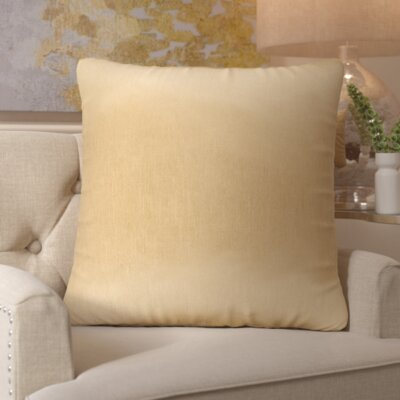 Simone Pillow Cover Size: 18 H x 18 W x 1 D, Color: Tan