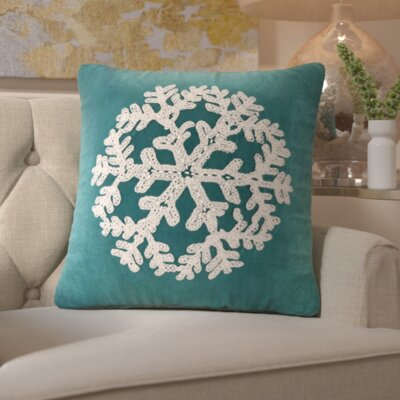 Woodbridge Snowflake Throw Pillow Color: Teal