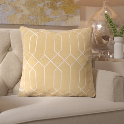Kaivhon Geometric Linen Throw Pillow Size: 18 H x 18 W x 4 D, Color: Gold