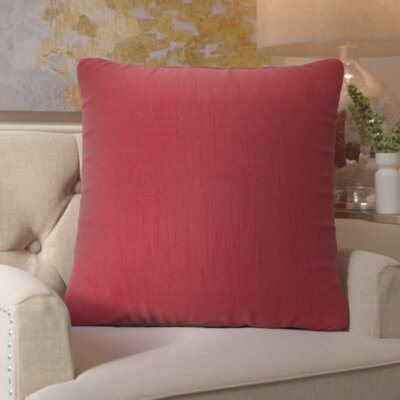 Izabel Pillow Cover Size: 18 H x 18 W x 1 D, Color: Dark Red