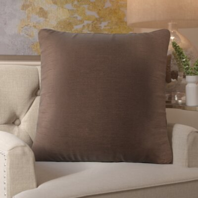 Simone Pillow Cover Size: 22 H x 22 W x 1 D, Color: Brown