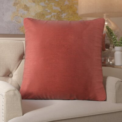 Simone Pillow Cover Size: 18 H x 18 W x 1 D, Color: Red