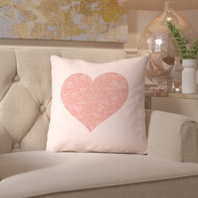 Brett Wilson Tanzanite Love Hearts Swirl Throw Pillow Size: 16 H x 16 W x 2 D