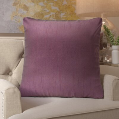 Simone Pillow Cover Size: 18 H x 18 W x 1 D, Color: Purple