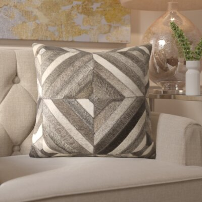 Gertrud Square Leather Throw Pillow