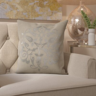 Southall 100% Linen Throw Pillow Cover Size: 18 H x 18 W x 0.25 D, Color: MetallicGray
