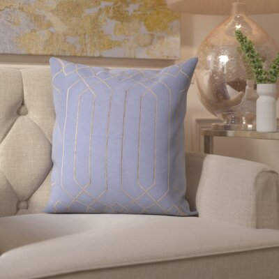 Loreta 100% Linen Throw Pillow Cover Size: 22 H x 22 W x 0.25 D, Color: DenimGray