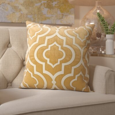Hertzog Laser Cut Lantern Cotton Throw Pillow Color: Copper