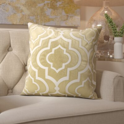 Hertzog Laser Cut Lantern Cotton Throw Pillow Color: Gold