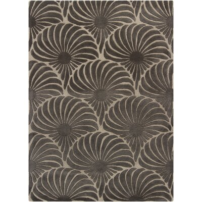 Fairchild Gray Floral Area Rug Rug Size: 5 x 7