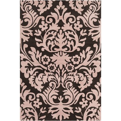 Jethro Hand Tufted Wool Brown/Pink Area Rug