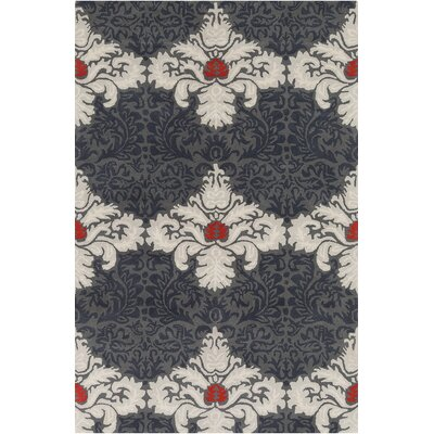 Jethro Hand Tufted Wool Grey/White Area Rug