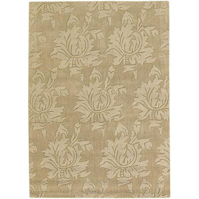 Kevinson Hand Tufted Rectangle Transitional Tan Area Rug
