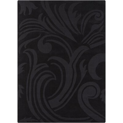 Kevinson Hand Tufted Rectangle Transitional Black Area Rug