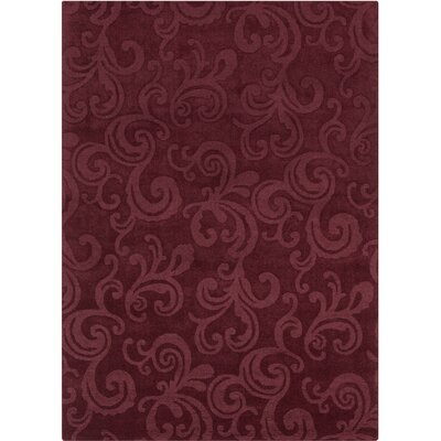 Kevinson Hand Tufted Rectangle Transitional Burgundy Area Rug