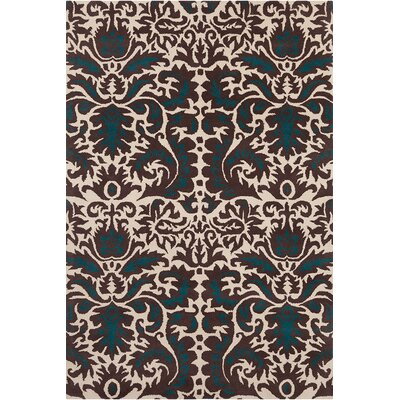 Jethro Hand Tufted Wool Brown/Cream Area Rug Rug Size: 8 x 10