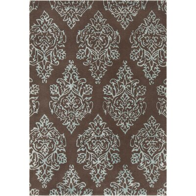 Jethro Hand Tufted Wool Blue/Brown Area Rug Rug Size: 5 x 76