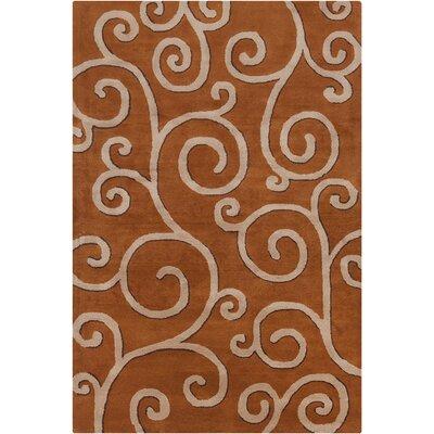 Jethro Hand Tufted Wool Rust/Tan Area Rug Rug Size: 8 x 10