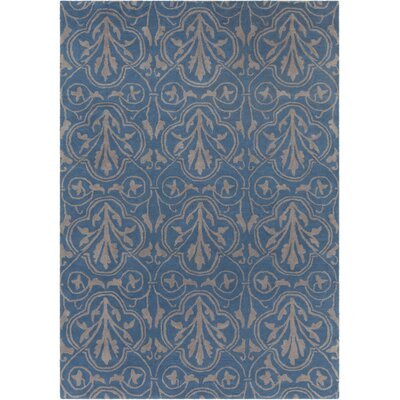 Dollins Hand Tufted Rectangle Contemporary Blue/Gray Area Rug Rug Size: 5 x 7
