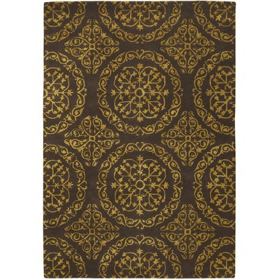 Elliston Brown Area Rug Rug Size: 2 x 3