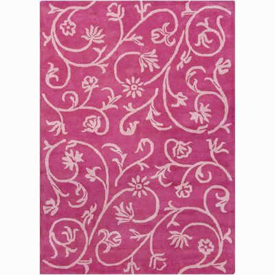 Constance Pink Swirl Floral Area Rug Rug Size: 9 x 13