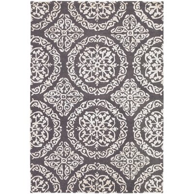 Elliston Light Gray Area Rug Rug Size: 79 x 106