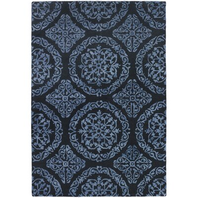 Elliston Sunwater Blue Area Rug Rug Size: Round 79