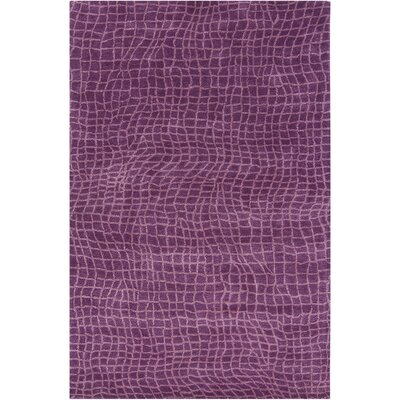 Dollins Purple Geometric Area Rug Rug Size: 5 x 76