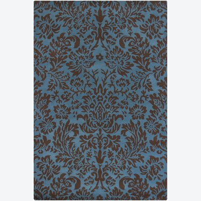 Dollins Blue/Black Floral Area Rug Rug Size: 79 x 106
