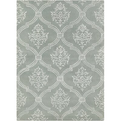 Dollins Abstract Gray/White Area Rug Rug Size: 5 x 7