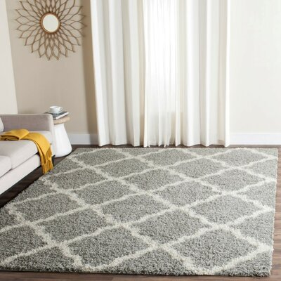 Charmain Gray/Ivory Area Rug Rug Size: Rectangle 4 x 6