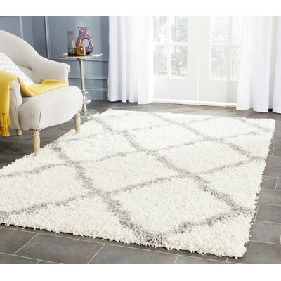 Kivett Ivory Area Rug Rug Size: Rectangle 2-3 X 12