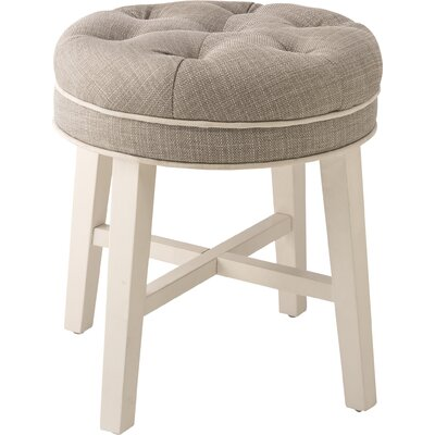 Chavanne Vanity Stool Color: Gray
