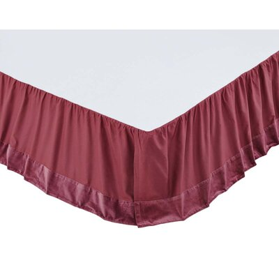 Hanks Bed Skirt Color: Mauve, Size: Queen