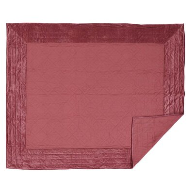 Hanks Quilt Color: Mauve, Size: Queen