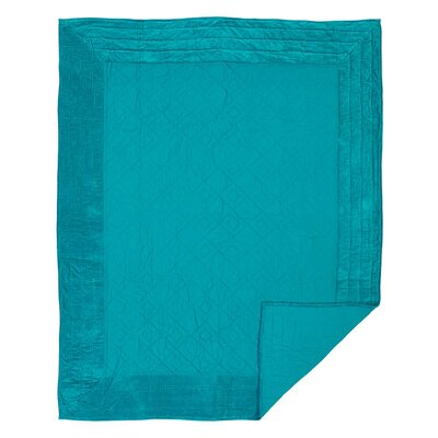 Hanks Quilt Color: Teal, Size: Queen