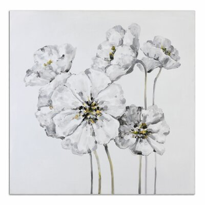 'Impact Fleurs Floral' Painting on Canvas