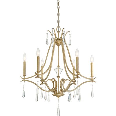 Fealty 6-Light Crystal Chandelier